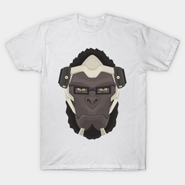 $14 Tshirt only for 2 days on Teepublic.      Winston minimalist    #winston #overwatch #teepublic #tshirt #shirt #gaming #videogame #ape #mellamanpel