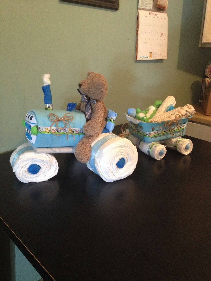 Tractor Diaper Cake Things I Have Made Baby Shower