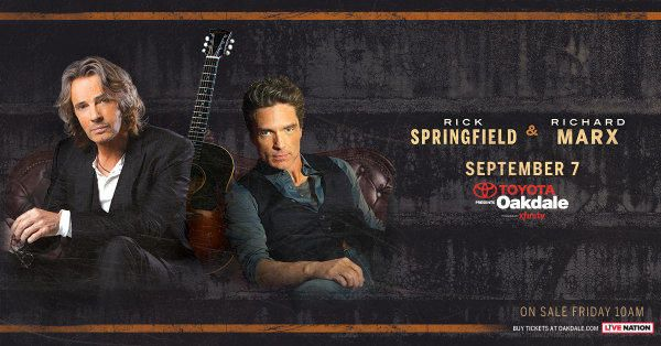 I just entered to win Tickets to Rick Springfield & Richard Marx at the Toyota Oakdale Theatre!