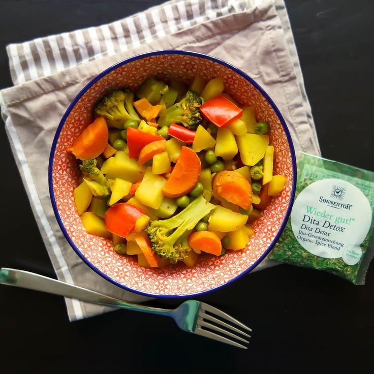 Veganes Kartoffelcurry mit Wiedergut! von sonnentor