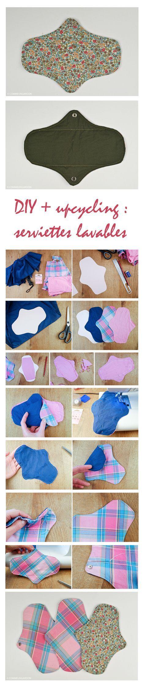 DIY | Serviettes hygiéniques lavables à partir de chutes de textile