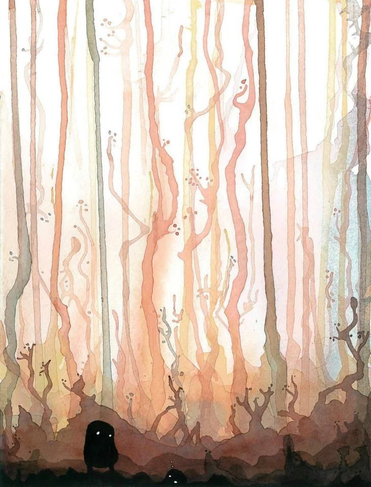 watercolor forest wallpaper FjXHfaG.jpg (731×960)