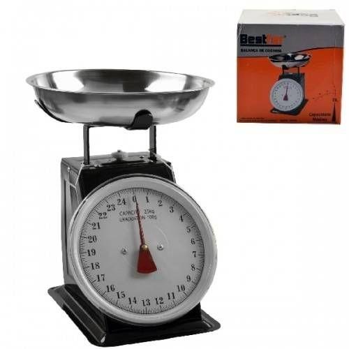 Foto 1 - Balanca De Cozinha E Mesa Profissional Retro Vintage Em Inox Com Bandeja Em Aço Inoxidavel Até 25kg