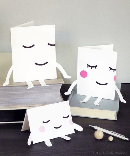 cute ! free printable cards by mrprintables.com