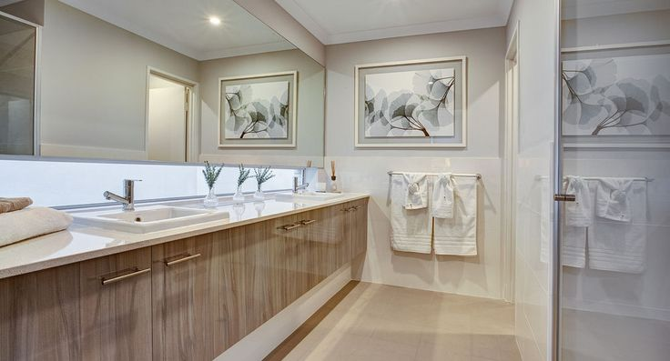 Master ensuite in the Orchard by Summit Homes. Discover more at https://www.summithomes.com.au/display-homes