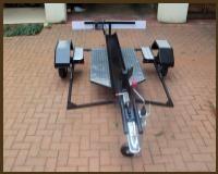 Easy Load Bike trailer with walking planks