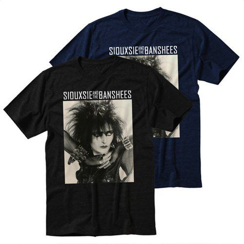Black+Men's+Tshirt+SIOUXSIE+AND+THE+BANSHEES+Black+Shirt+For+Men