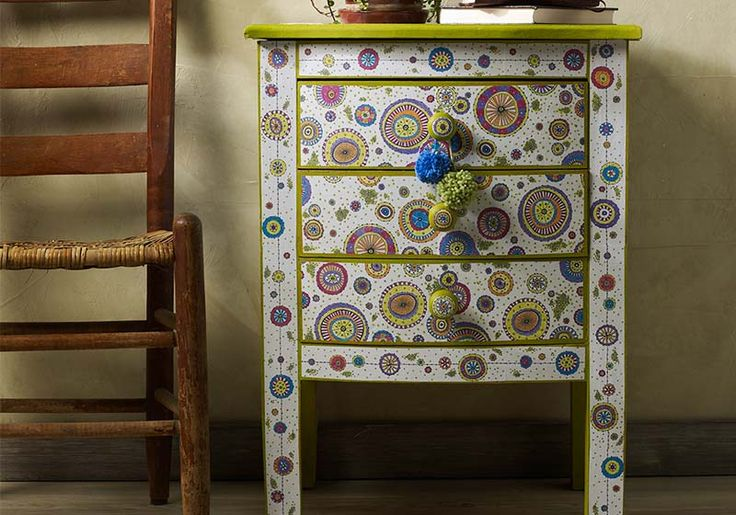 diy decoupage furniture. Decoupage - DIY Painted Side Table With Pages From Adult Coloring Books Diy Furniture