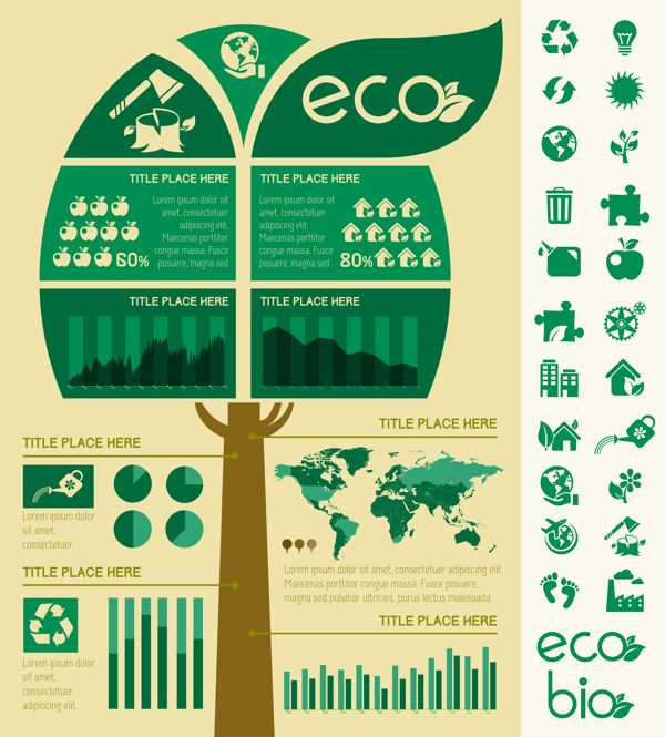 23 best Ecology Infographics Templates Flat Design images on - best of simple world map flat