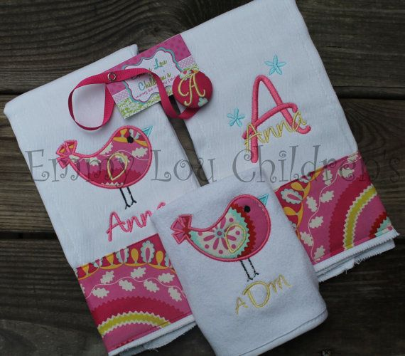 127 best emmy lou baby gifts images on pinterest baby gifts items similar to monogrammed baby gift set set of two monogrammed burp cloths coordinating pacifier clip and monogrammed bib custom gift set negle Images