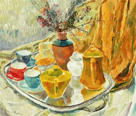 'Tea Tray' 1945. Grace Cossington-Smith