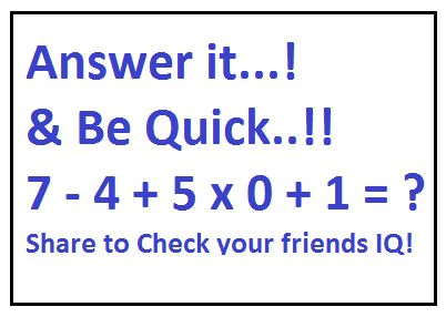 Worksheet Math Questions For Facebook With Answer 8 best iq test images on pinterest riddles animal pics and its 4 using pemdas