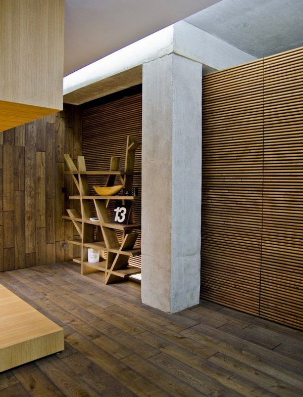 Natural Materials and Textures Resulting Perfect Harmonious Sight : Extraordinary And Contemporary Wood Cladding