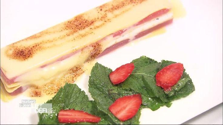 Dégustation des lasagnes à la fraise