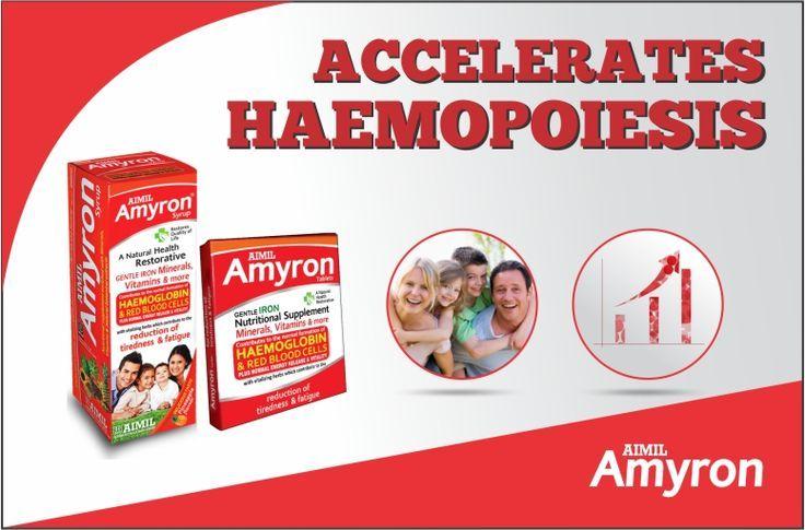 #Amyron an effective ayurvedic treatment which accelerates Haemopoiesis.   #NutritionalAnaemia #Haemoglobin #AnemiaOfPregnancy