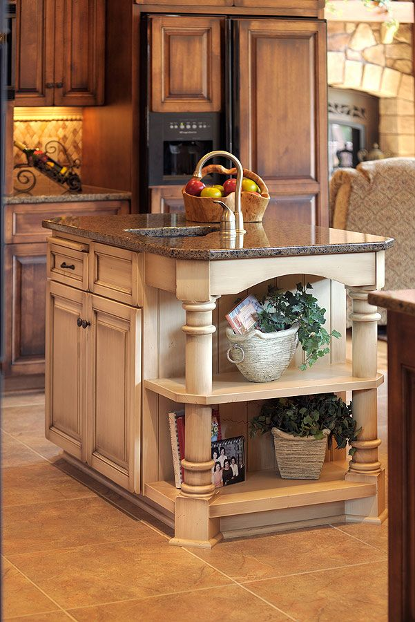 14 best images about two tone kitchens with dark cabinets on pinterest traditional dark wood - Kitchen island color ideas ...