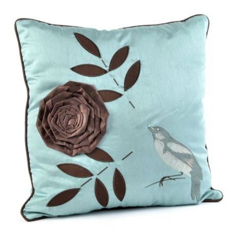 Blue & Brown Bird Pillow | Kirkland's