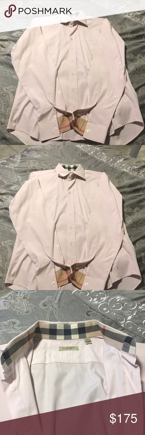 Burberry Button Down Shirt 100% Authentic Burberry Button Down Light Pink Shirt for Men! Worn Once and Dry Cleaned. Size L for Men. Fast Shipping (will ship the same day or the following day)Retail Price $295.00 Burberry Shirts Dress Shirts