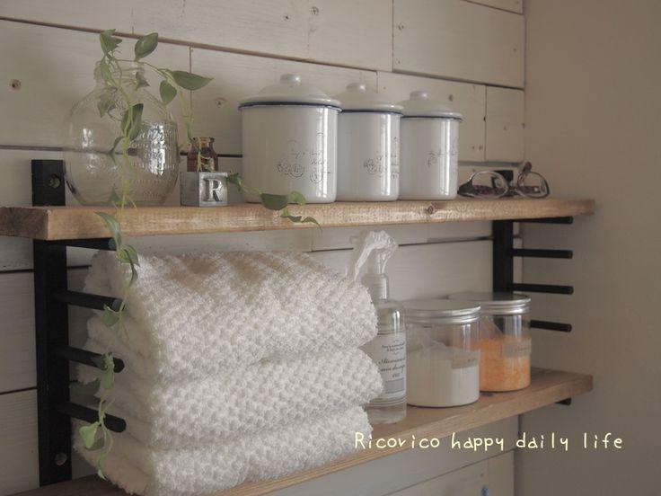 [come home!37掲載] 100均ディッシュスタンド×端材..簡単収納棚。|Ricorico happy daily life