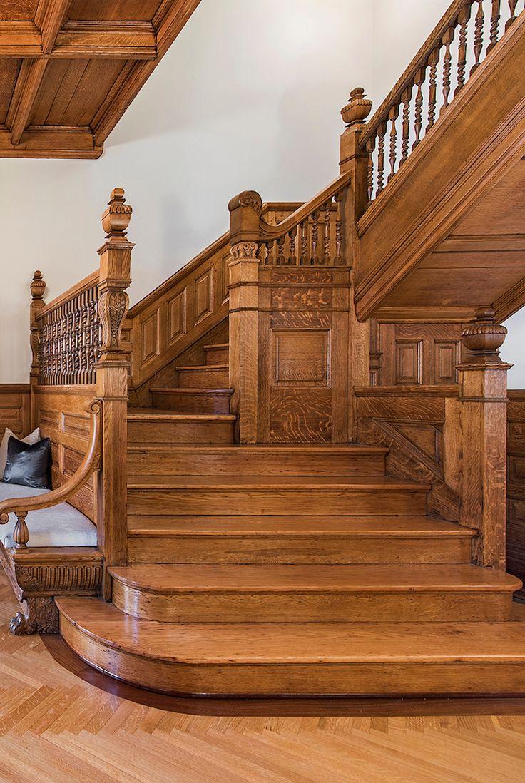 oak staircase - Brooklyn Townhouse
