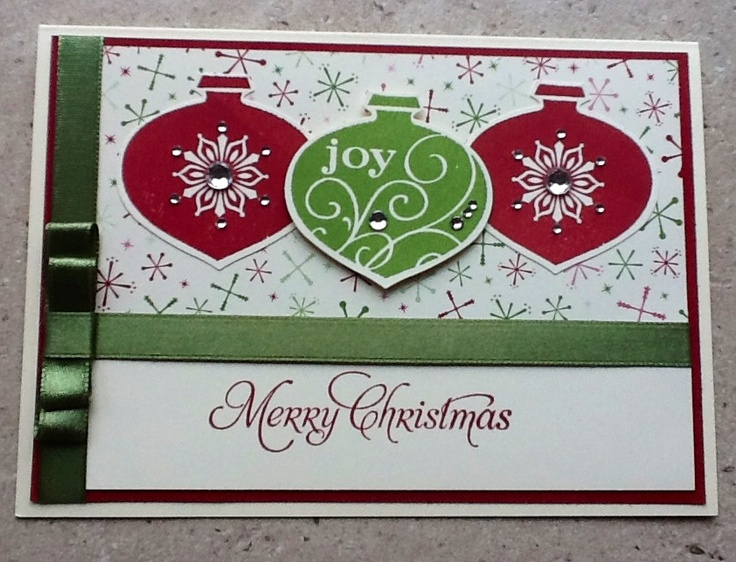 Christmas Card Making Ideas Stampin Up Part - 30: Stampin Up Christmas Time - Delightful Decorations U0026 Ornament Punch