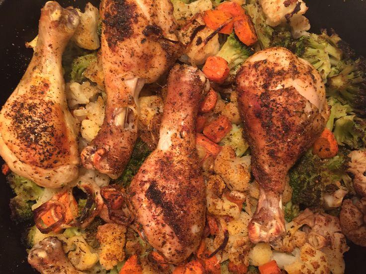 recipe: roasted drumsticks and vegetables [30]