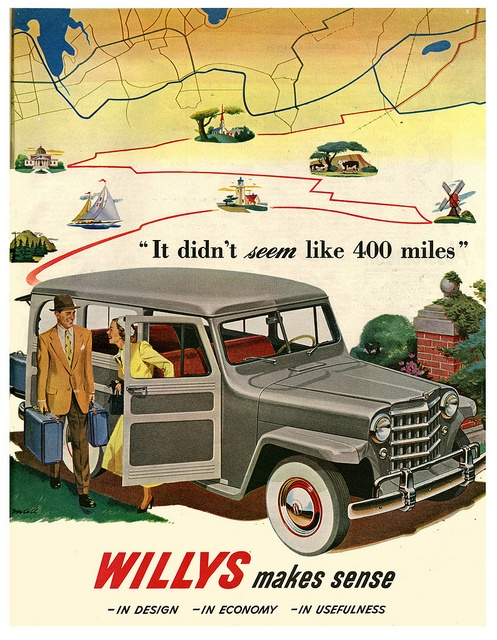 1950 Willys Jeep ~ 400 Miles by paul.malon, via Flickr  Both my Dad & Father In Law had a few of Willys Jeeps looking a lot like this one.