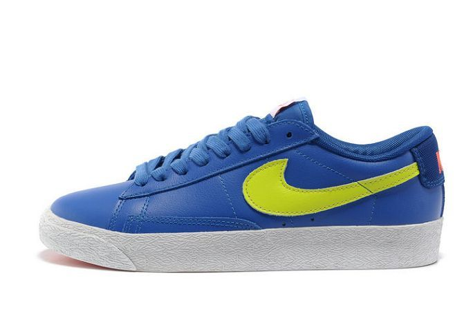 Top1 Nike Blazer Low Men Premium Leather Royal-Volt For UK Sale | Air Max  90 Womens | Pinterest | Air max and Air max 90