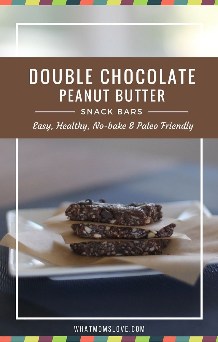 bake double chocolate peanut butter snack bars double chocolate peanut ...