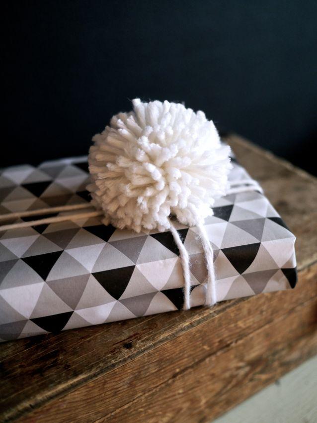 Pompom wrapping