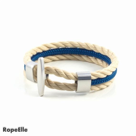 Rope bracelet, Nautical bracelet, Navy bracelet, Paracord, Sale, Gift, Armband, Sailor Bracelet, Jewelry, Birthday present, Couple bracelet