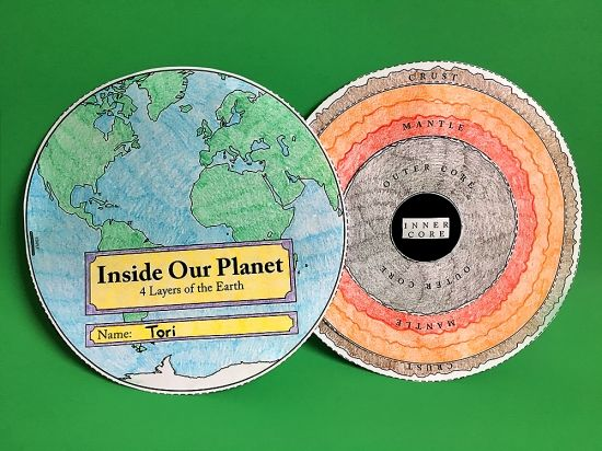 "Check out this ""Inside Our Planet"" earth science activity from Super Teacher Worksheets! Find more science activities for earth science topics, such as weather, landforms, the solar system, rocks and volcanoes, and much more!"