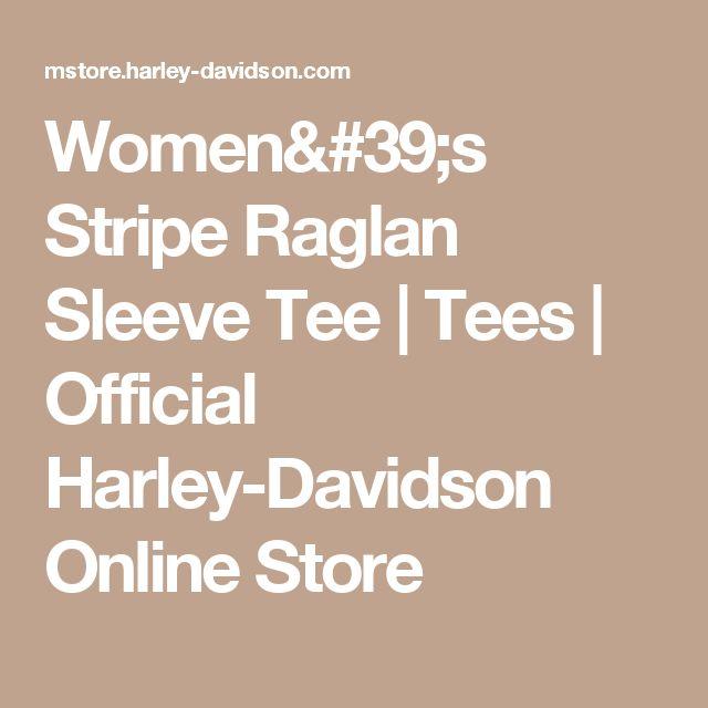 Women's Stripe Raglan Sleeve Tee | Tees | Official Harley-Davidson Online Store
