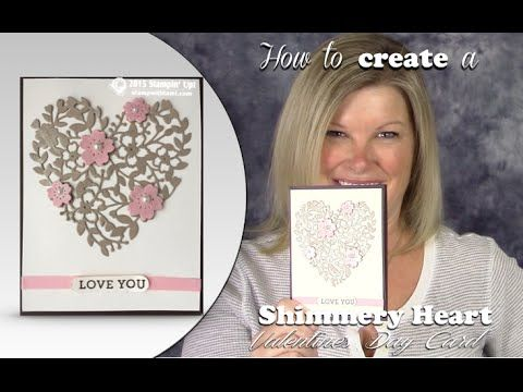 """More info: http://stampwithtami.com/blog/2016/01/valentine-shimmer Get your """"shimmer on"""" and Wow your Valentine's this season with this super cool Bloomin' H..."""