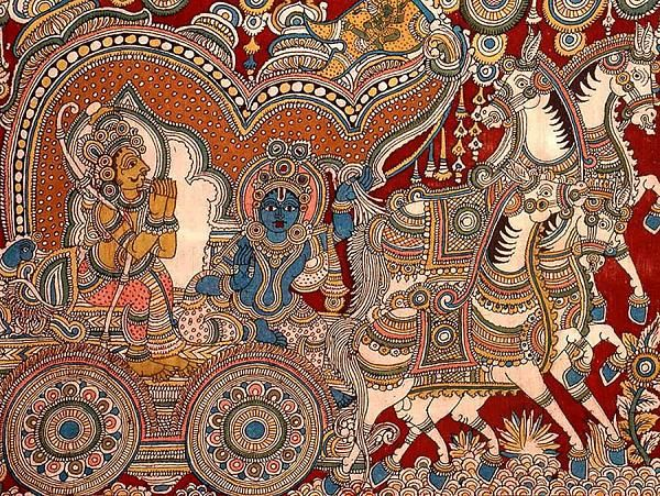 Indian Painting Styles...Kalamkari Paintings (Andhra Pradesh)-gitaupadesa9.jpg