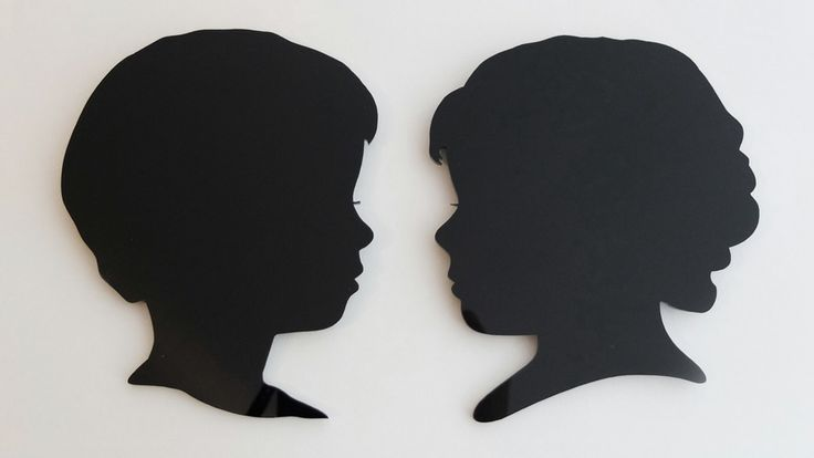 Benji and Lily. 3mm black acrylic silhouettes, unframed. 160mm high.