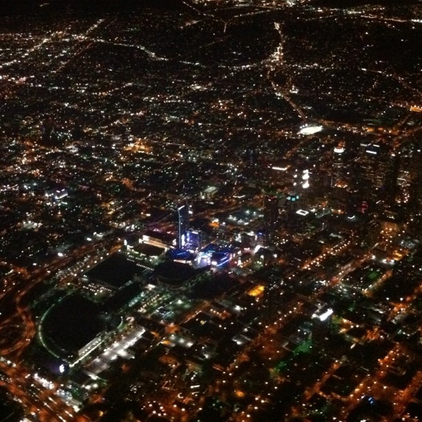 Flying over LA at night...the lights!!!!! I've seen it. Gorgeous!
