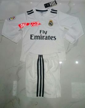 2018-19 Cheap Youth Kit Real Madrid Home LS Replica Soccer Kids Suit   CFC995  c55c13d13