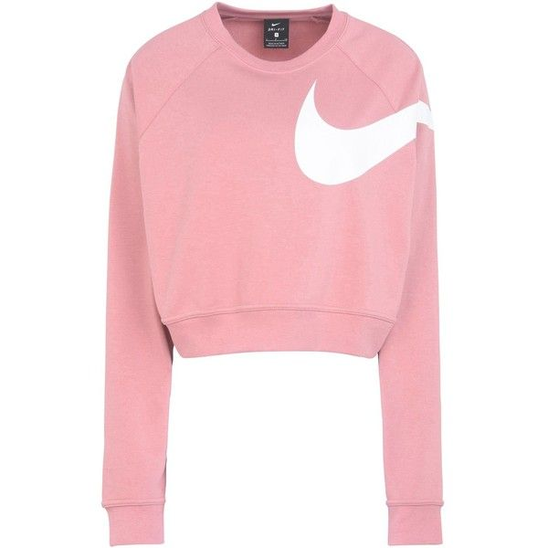 Nike Sweatshirt ($58) ❤ liked on Polyvore featuring pink