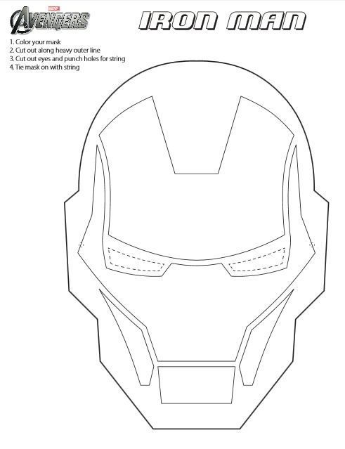 Iron Man Mask Template Printable cakepins.com