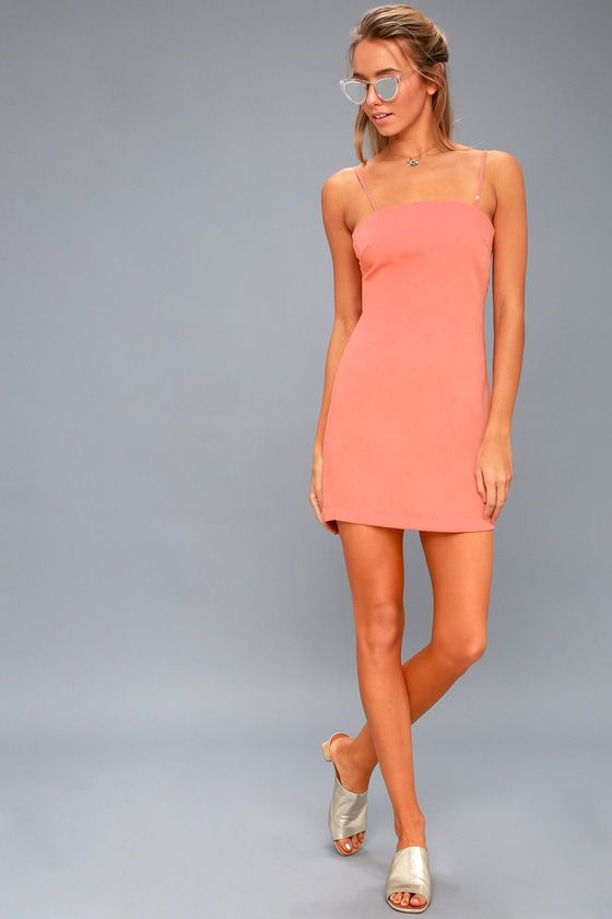 Toast to Life Coral Pink Mini Dress 1
