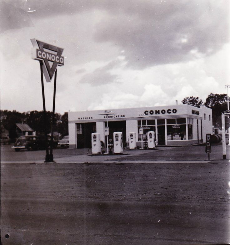 Old Conoco Station in Panguitch, Utah. Gas Pumps, Gas