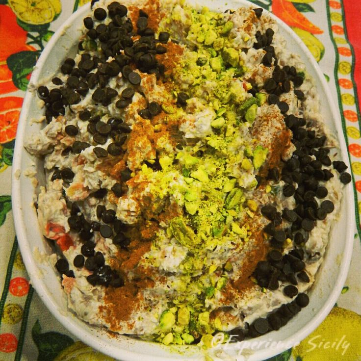 To celebrate Lucia, the Patron Saint of eyes, sight, light, and wheat, Sicilians eat cuccìa. Cuccìa is a pudding made of farro (wheat berries or barley), milk (in this case, ricotta), and honey or ...
