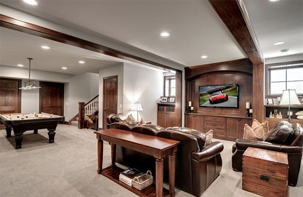 20 Man Cave Finished Basement Designs You Ll Totally Envy Home Design Lover Room Layout Recreational Room Rec Room