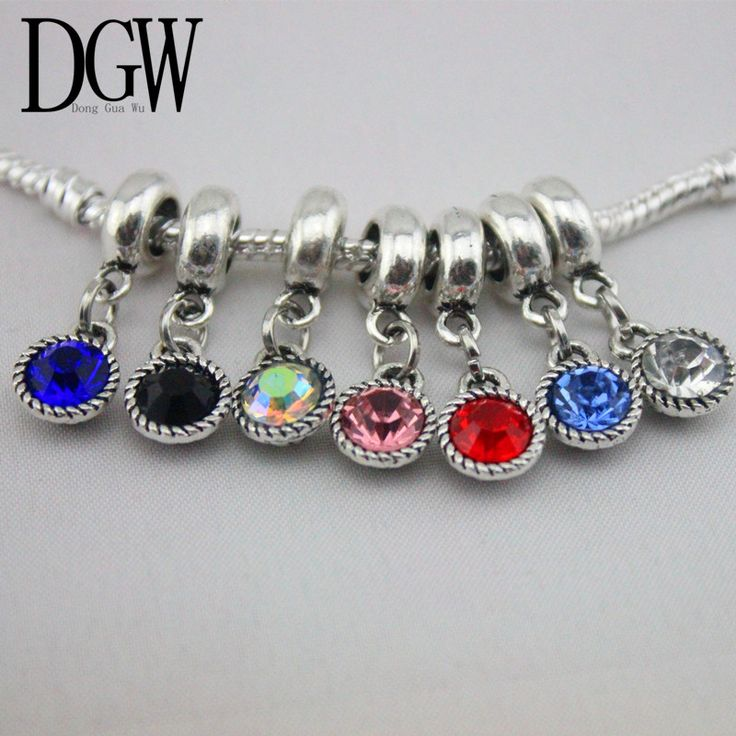 DGW DIY Jewelry accessories inset multicolor big hole swan pandent apply to fit Pandora style charms bracelets DZA1-7