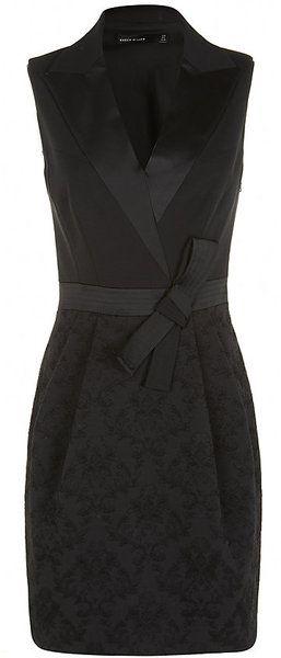 KAREN MILLEN ENGLAND Brocade Bubble Dress - Lyst