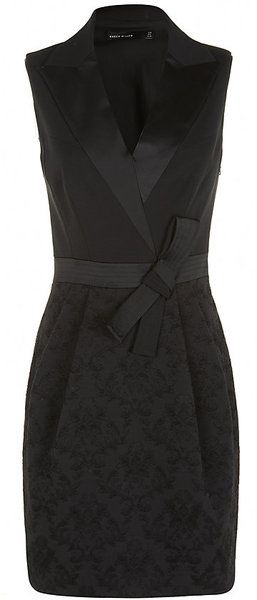 KAREN MILLEN ENGLAND Brocade Bubble Dress - Lyst