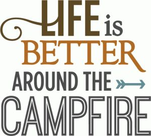 Silhouette Online Store - View Design #59964: life is better around campfire