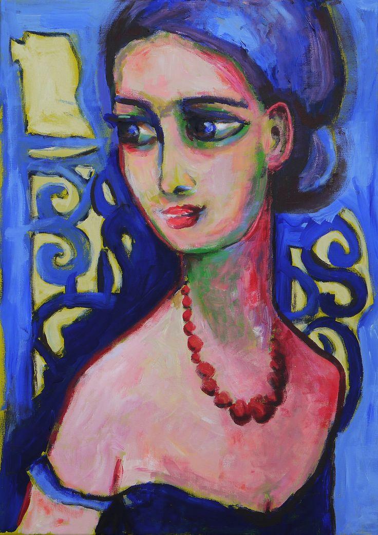 """""""Le Collier de Perles"""" naar een tekening van Kees van Dongen"""