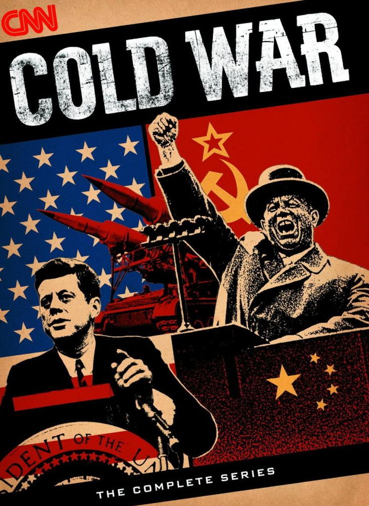 "The Cold War was a prolonged period of tension between the the Western World democracies, led by the USA and the communist Eastern Europe, led by the Soviet Union.  The two leading countries, known as ""superpowers,"" fought indirectly through proxy wars, the arms race, and the space race."